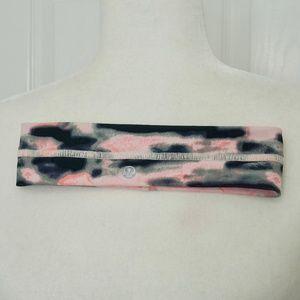 LULULEMON Pink/Black Headband Athletic Wear (OS)